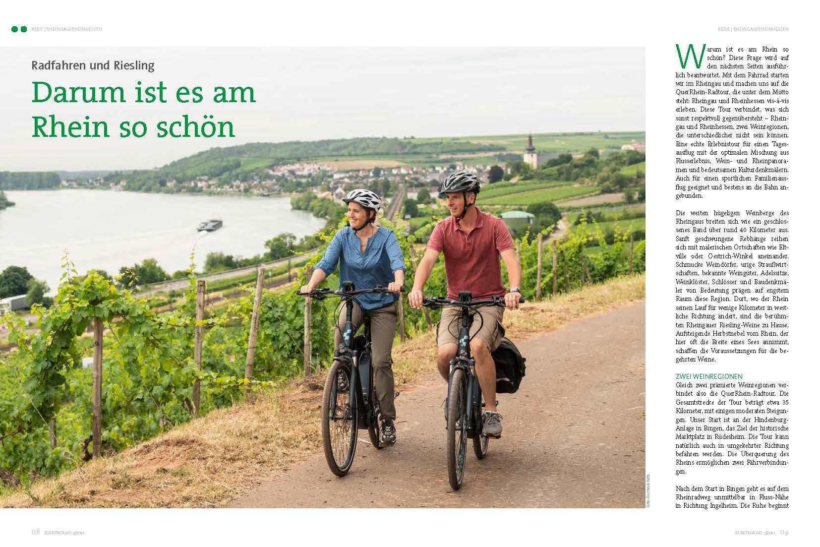 Rheingau: Erst Fahrrad, dann Riesling