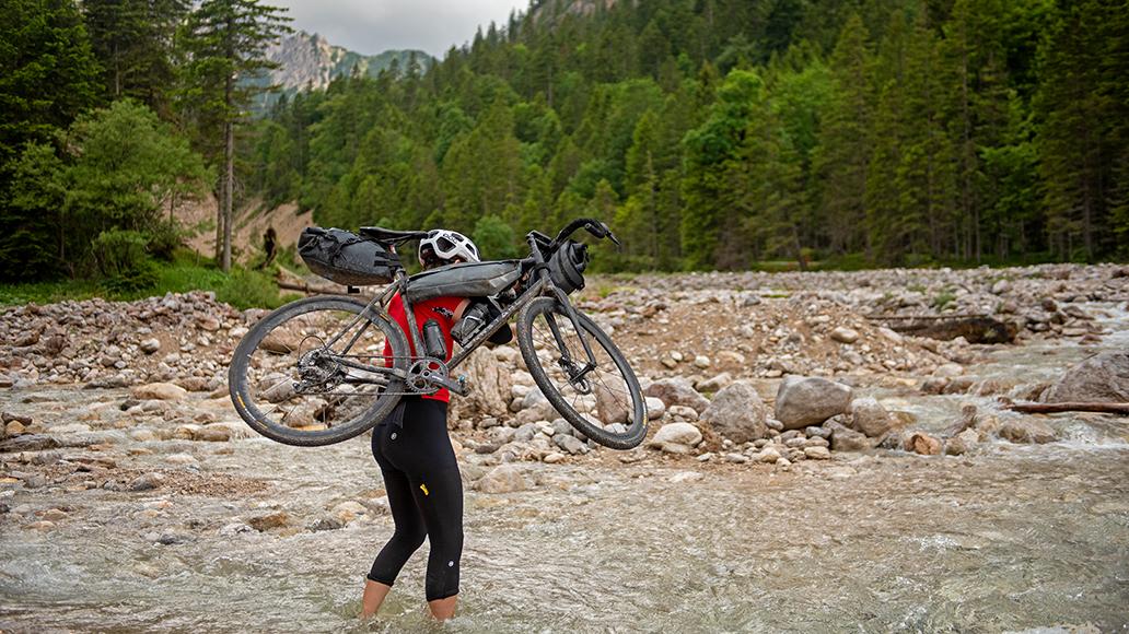 Gravelbike, Karwendelgebirge, Bikepacking, Radfahren, Ehrwalder Alm, Fahrrad, Radtour