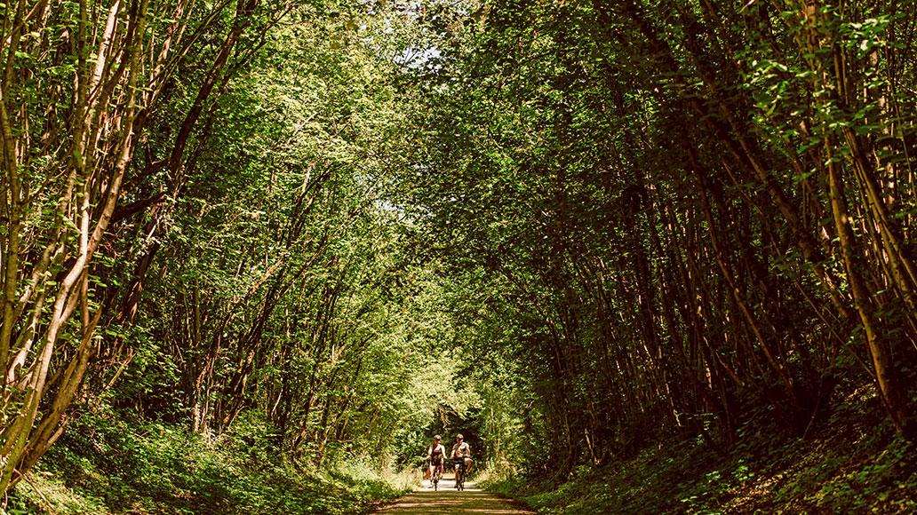 La Falaise Bouclard de Mont d'Origny, EuroVelo 3, Radreise