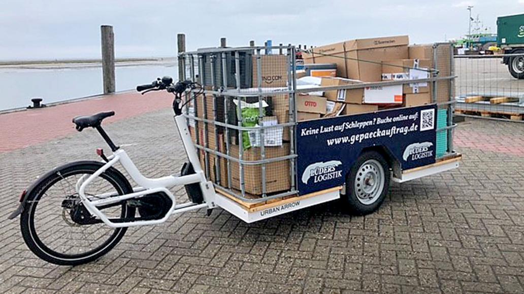 E-Lastenräder, Spiekeroog, Logistik, E-Bike, Fahrrad, Radfahren