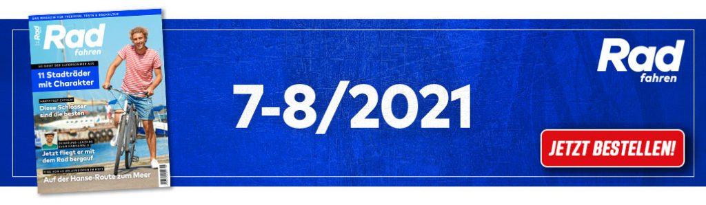 Radfahren 7-8/2021, Banner