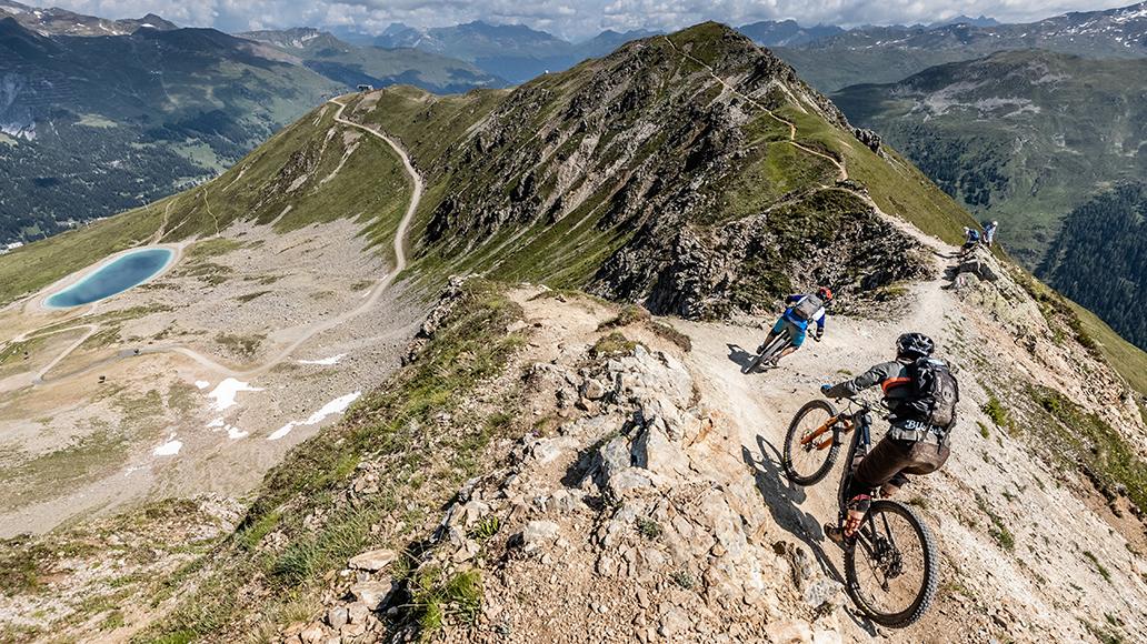Tiefenmeter, Weltrekord, Schweiz, Davos, Radfahren,l MTB